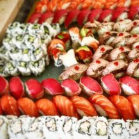 Image of Sushi Display by Yooshi Sushi Catering Beverly Hills