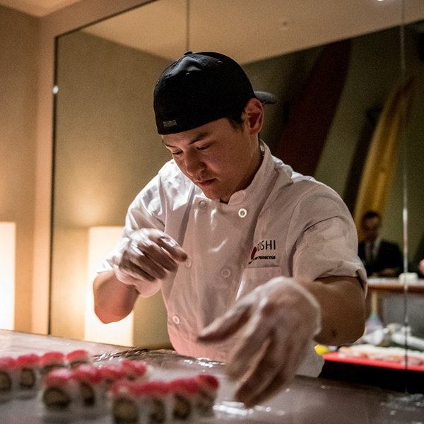 Image of Yooshi Sushi Chef Making Fresh Authentic Sushi in Los Angeles
