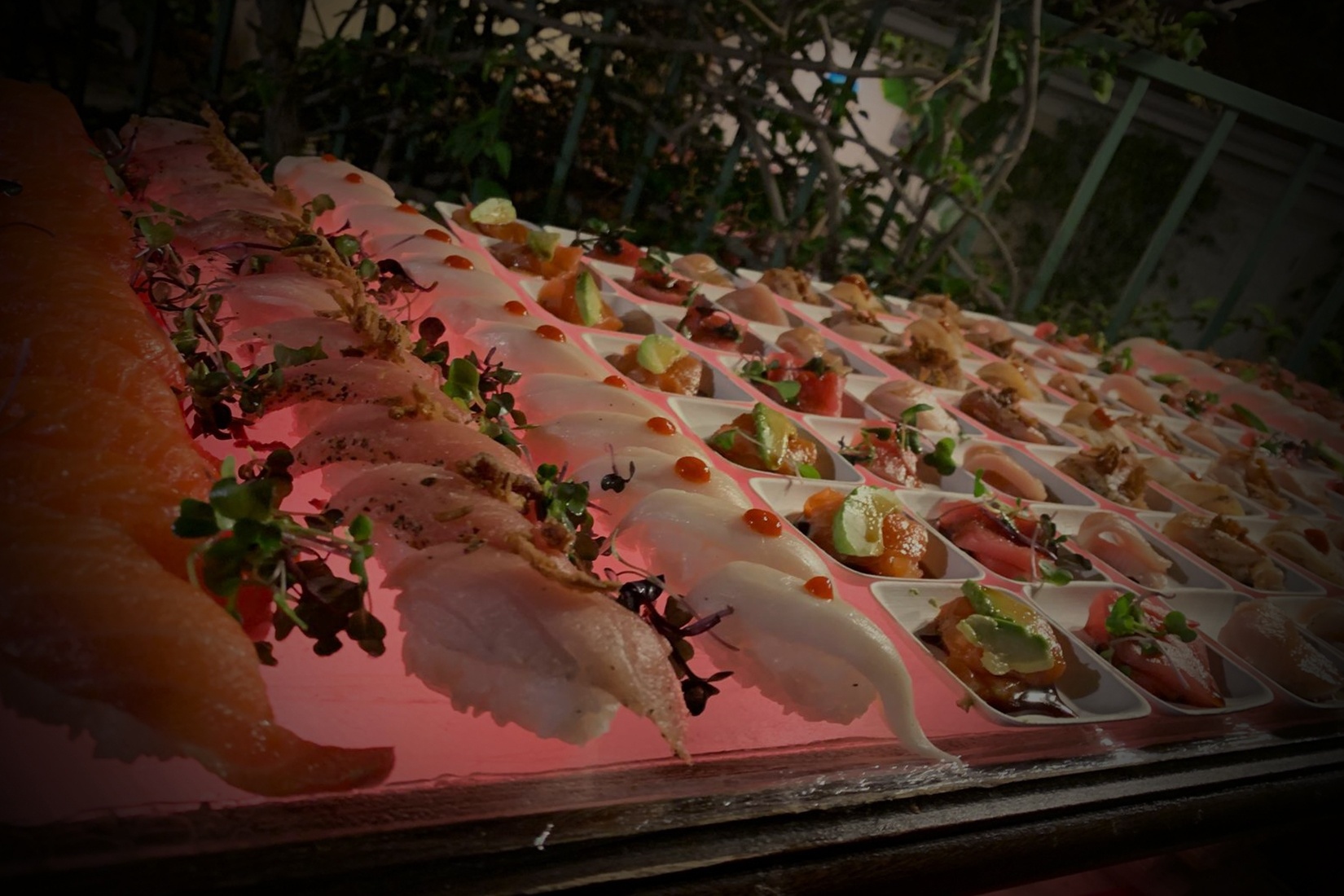 Image of Exotic Sushi at Outdoor Event by Yooshi Sushi Caterering Event Production